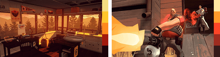 Тёплая палитра в Firewatch и Team Fortress 2