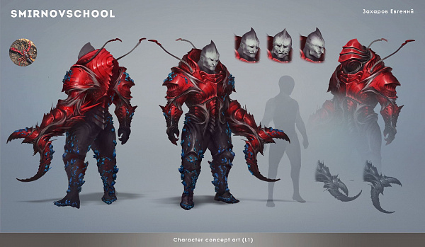 9 Crab warrior tank by Smirnov school.jpg